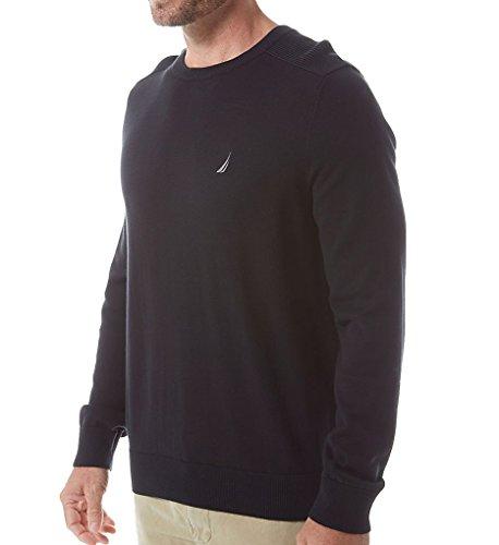 Nautica Solid Crew Neck Sweater True Black 2XL