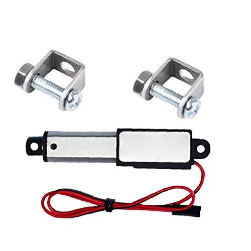 NaisiCore Actuador Lineal eléctrico Mini Impermeable con Soportes de Montaje 12V 30N Velocidad de 30 mm Longitud 50 mm Micro para el Coche Auto