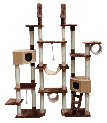 Kitty Mansions Rome Cat Tree, Brown/Beige