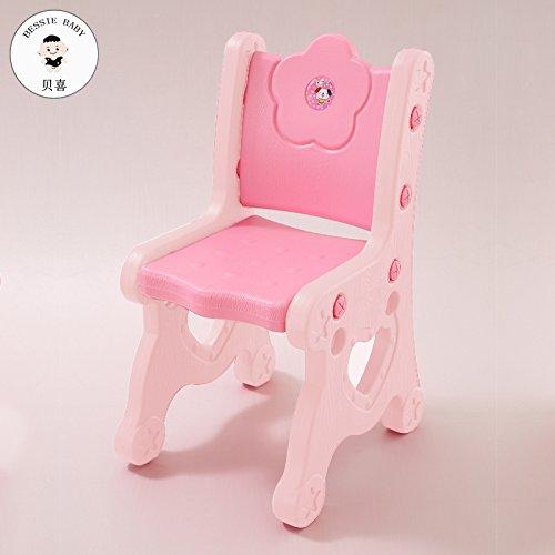 Dana Carrie Sedie per Bambini Bambino imparerà Le tabelle di plastica e sedie Piccole sedie per Bambini sedie Baby Sgabello Spessore Regolabile, Rosa 4 pz
