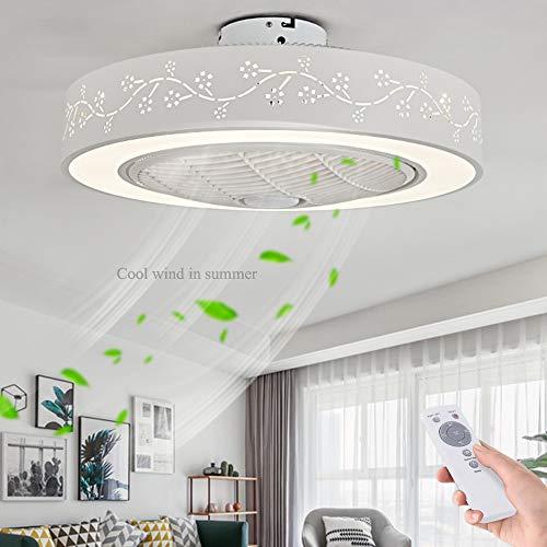 LED Fan Deckenventilator LED Deckenleuchte Neue Moderne Kreative Mit Fernbedienung Dimmbar Leise Fan Licht Schlafzimmer Lampe Wohnzimmer Kindergarten Büro Kinderzimmer Deckenventilator Beleuchtung