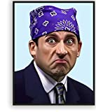The Office Michael Scott Poster, By THANGKA | Prison Mike Meme Wall Art Print Canvas Posters for...