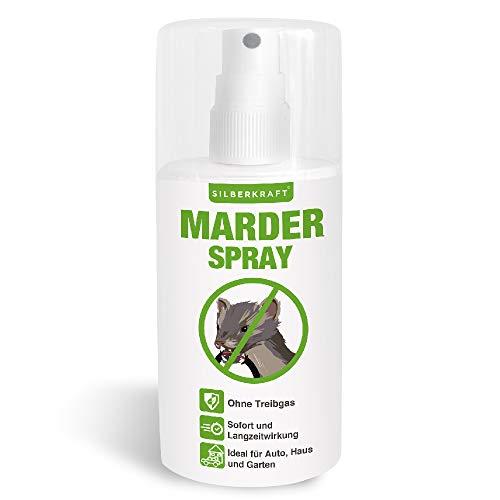 Silberkraft Marderspray 100 ml, Marderabwehr für Auto und Dachboden, Marderschutz für Abwehr und Vorbeugung von Mardern, Marder Spray als wirksame Alternative zu Marderschreck & Marderfalle