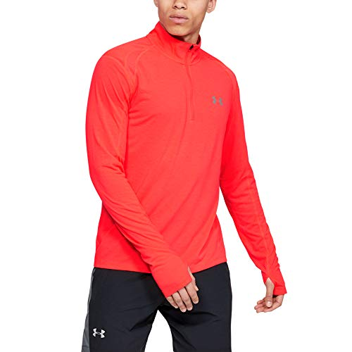 Under Armour UA Streaker 2.0 Half Zip Sudadera, Hombre, Rojo (Beta Red/Reflective 632), M