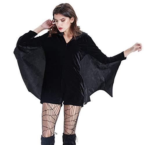 THEE, costume da pipistrello, per ragazze, travestimento per Halloween o Cosplay style 1 M (EU 34)