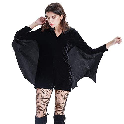 THEE Disfraz de Murciélago para Mujer Halloween Vampiro Cosplay Costume