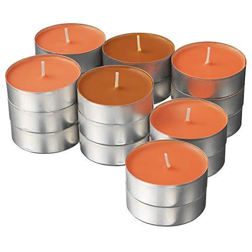 Ikea Sinnlig Duft-Teelichter, groß, 59 mm, Pfirsich und Orange, 24 Stück