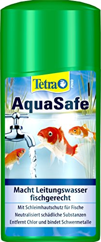 Tetra 734715 - Aquasafe estanque, purificadores de estanques calidad del pescado agua del estanque justo y muy bonito, cambios de filtro de la charca del jardín cambio de agua del estanque de