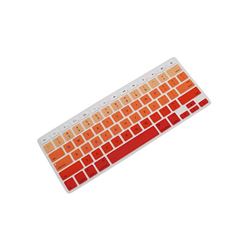 Ultra Thin Silicone Laptop Keyboard Cover Skin Protector for MacBook Air 13.3' A1369 A1466 A1278 A1425 A1502 Laptop-Orange-
