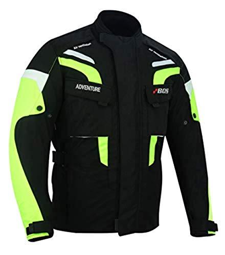 BOSmoto Motorradjacke CE Protektoren Sport Textil Motorrad Thermofutter (3XL)