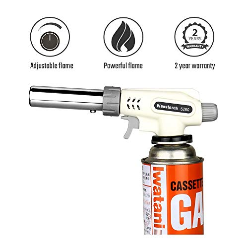 Sondiko Butane Torch Kitchen Torch Professional Adjustable Flame for Desserts Creme Brulee BBQ Baking and much moreButane Gas Not Included