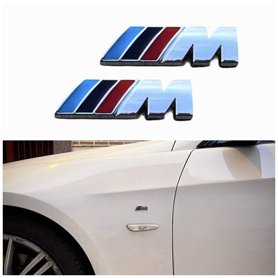 Yukamotor - Adesivi laterali M per BMW 2 pezzi (M cromato)