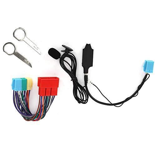 Adaptador de audio Bluetooth para coche, adaptador de cable auxiliar con altavoz, estéreo para coche, compatible con Au-di A2 A3 8L 8P A4 B5 B6 B7 A6