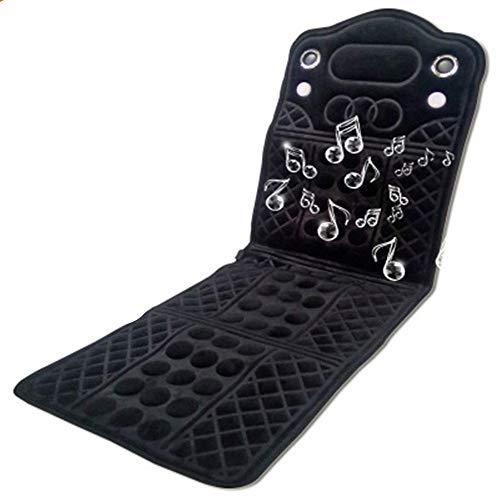 Colchón de Masaje Multifunción eléctrico vibración del cuerpo entero del masaje del amortiguador altavoces traseros Colchón de masaje de cuerpo completo Calefacción Bluetooth climatizada Colchón de ma