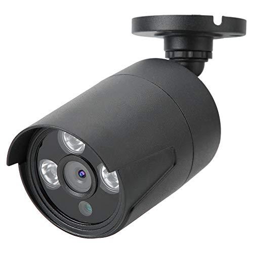 Junlucki Cámara IR de Seguridad, cámara de Seguridad HD de conmutación automática IR-Cut con visión Nocturna por(Black, European regulations)