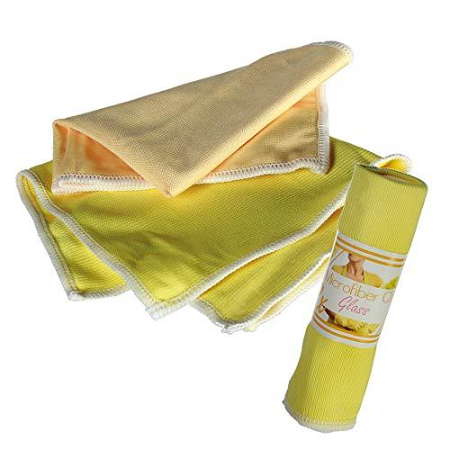 Preis am Stiel 5 x 2er Set Microfasertuch für die Glasreinigung | Reinigungstuch | Spiegeltuch | Putztücher | Haushalt | Fenster | Küche | Bad | Haushaltstuch | Frühjahresputz