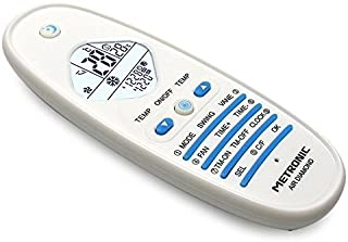 Metronic Air Diamond - Mando a distancia (Aire Acondicionado, IR inalámbrico, Botones, Pantalla incorporada, Blanco)