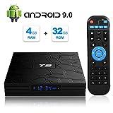Android TV Box, T9 Android 9.0 TV BOX 4GB RAM/32GB ROM RK3318 Quad-Core Media...