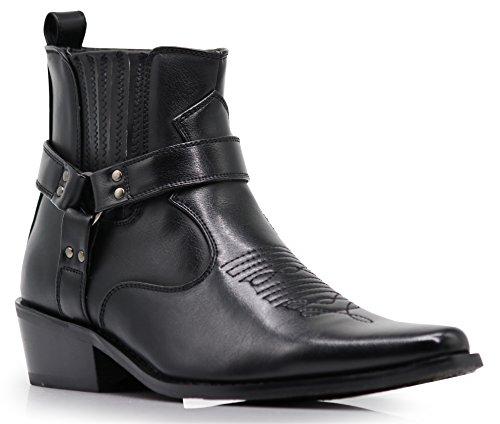 Alberto Fellini Men's Western Boots (West01) (Black, 10.5)