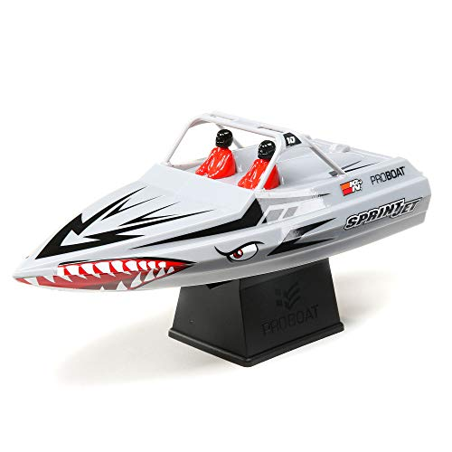 """Pro Boat Sprintjet RC Boat 9"""" Self-Righting Jet Boat Rtr (Includes Transmitter, Battery, & Charger) Silver, PRO08045T1"""