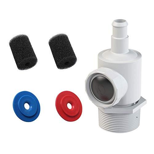 Poweka 9-100-9001 Conjunto de Conector Universal de Montaje en Pared para Robot Limpiafondos Piscina Polaris 180 280 380 con 9-100-3105 Lavador de Cola de Manguera de Barrido