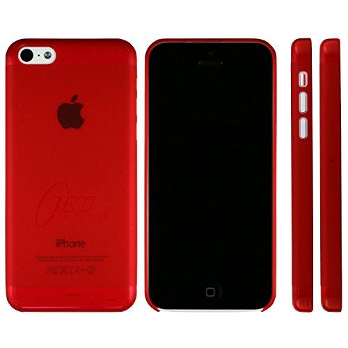 CUSTODIA BACK RIGIDA SLIM DA 0,3mm + PELLICOLA per APPLE IPHONE 5c COLORE ROSSO ZERO ITSKINS BLISTER