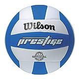 Wilson Prestige Balón, Adultos Unisex, Blanco/Azul, Talla Única
