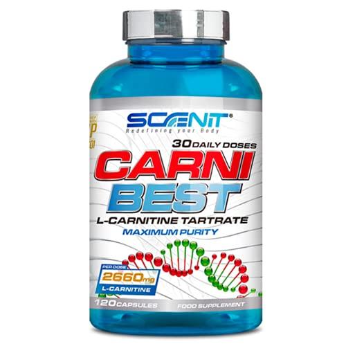 CARNI BEST   L Carnitina (2660 mg)   120 cápsulas veganas   Suplemento deportivo con L Carnitina Tartrato pura   Ayuda a la metabolización eficiente de las grasas y mejorar el rendimiento deportivo