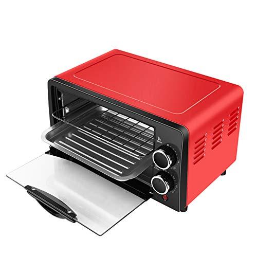 YDM Brothersteller Kit Haushalt Elektro-Ofen 12L Kleine Kuchen-Backen Machen Ofen Multifunktionale Desktop-Pizza Brotbackautomaten Toaster,Rot