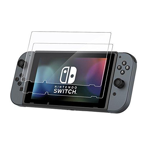 EasyAcc 2 Stücke Nintendo Switch 2017 Schutzfolie Glas Folie Panzerfolie for Nintendo Switch 2017 Klar Anti-Kratz Displayfolie - 9H Hardness aus gehärtetem Glas