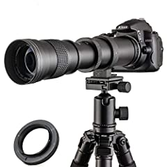 ★ JINTU 420-800mm MF Super HD Telephoto lens, Solid Construction with full metal body, Small size 10.6 x 3.5 x 3.5 inch, lightweight 700g=1.8LB, easy to carry to anywhere. ★ Ultra high definition image quality .with Japan design, Multi coated low-dis...