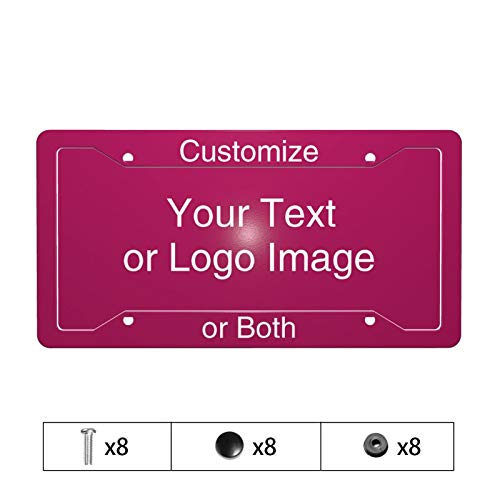 Custom License Plate, Add your Text Logo or Image Customize Your Own License Plate aluminum Novelty Auto Car Tag Vanity Plate Gift for Vehicle Auto Car Bicycle, 12 x 6 x 0.1'