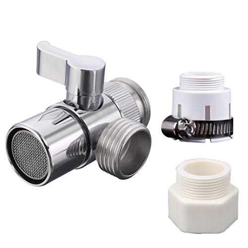 Brass Sink Valve Diverter Faucet Splitter for Kitchen or Bathroom Sink...