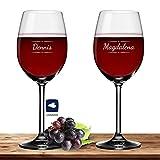 Deitert 2X Leonardo Rotweinglas mit Namen oder Wunschtext graviert, 460ml, Daily, personalisiertes Premium Rotweinglas in Gastroqualität (Verzierung 03)
