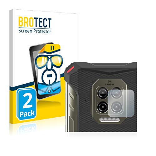 BROTECT Schutzfolie kompatibel mit Doogee S86 (NUR Kamera) (2 Stück) klare Bildschirmschutz-Folie
