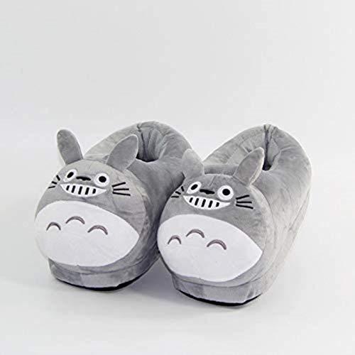 DINEGG 28 cm Anime mi Vecino Totoro Zapatillas de Felpa Suave Relleno Zapatos Interior Invierno Caliente para Mujer y Hombre (Color: 1, Zapato Tamaño: 8) YMMSTORY (Color : 1, Size : 9.5)