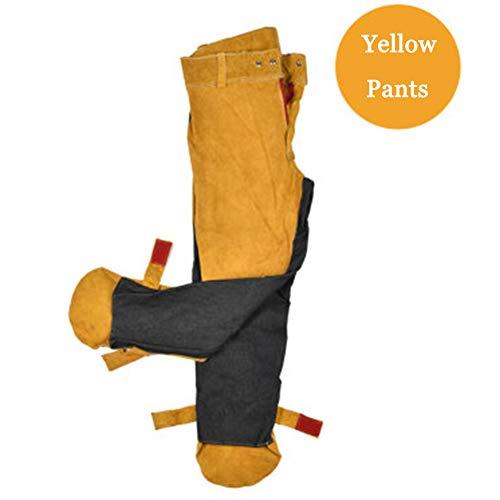CJF lassen werkbroek - beschermende kleding veiligheid leer lange broek vlambestendige kleding lassers broek - voor het lassen, smeden (L - 3XL)