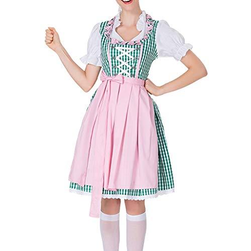 NEEKY Oktoberfest Kleidung Damen Damen Bier Festival Kleid Bayerisches Bier Festival Karneval KostüM Oktoberfest Kleidung(XL,Grün)