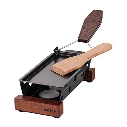 Piccolo Party raclette con spatola. La piastra grill antiaderente si può pulire facilmente. Si dare voi di 3candele da tè, la così come la spatola sono incluso. 19x 9x 5cm H