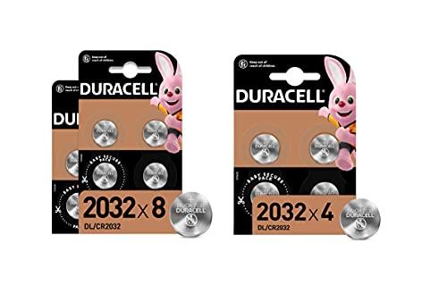Duracell - Pilas de botón de litio 2032 de 3 V, paquete de 12, con Tecnología Baby Secure, para uso en llaves con sensor magnético, básculas, elementos vestibles, dispositivos médicos (DL2032/CR2032)