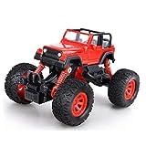 JINGYUAN Pull Back Monster Trucks, avec 4 Ressorts de Choc indépendants, 4 Roues motrices à Friction, propulsé par Traction, Cadeau de Voiture Tout Terrain pour Enfants (Rouge)