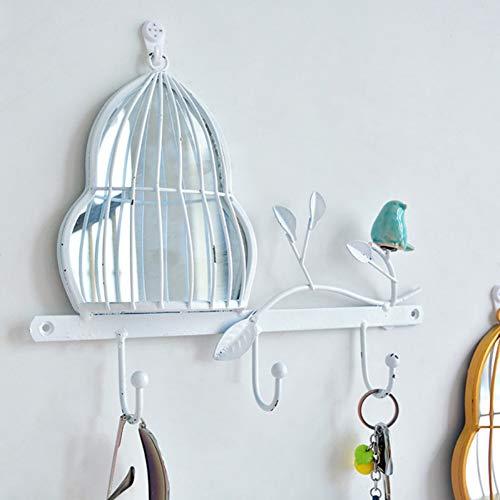 Norbi Free Punch Storage Rack Wall Mounted Shelf Novelty Concise Bird Decor Coat Hooks