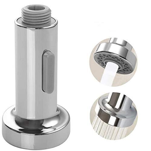 Cabezal de rociador para grifo de cocina, 2 funciones, G1/2, cromado, para sacar grifos de fregadero de cocina, pausa corriente