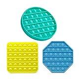 Push Pop Bubble Sensory Fidget Toy, Conjunto de juguetes sensoriales, Juego de juguetes sensoriales, juguetes de alivio de estrés Autismo Ansiedad Alivio Estrés Pop Bubble Fidget Juguete sensorial par