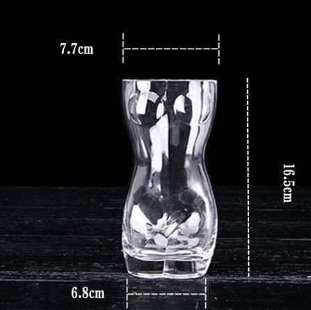 ZKGHJOKZ Whiskyglas Man & Vrouw Wijnglas Hittebestendig Dubbelwandig Kristal Bier Whisky Brandewijn Champagne Cup Lichaamsontwerp Drinkware Bar Geschenken