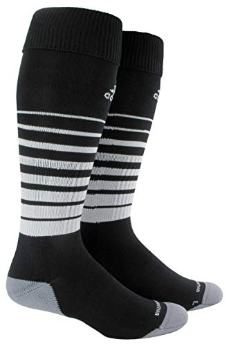 adidas Unisex Team Speed Soccer OTC Sock (1-Pair), Black/White, 13C-4Y