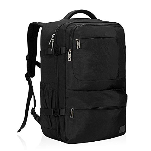Hynes Eagle Business Carry On Luggage Laptop Cabin Backpack 55 x 35 x 20 cm(Black)
