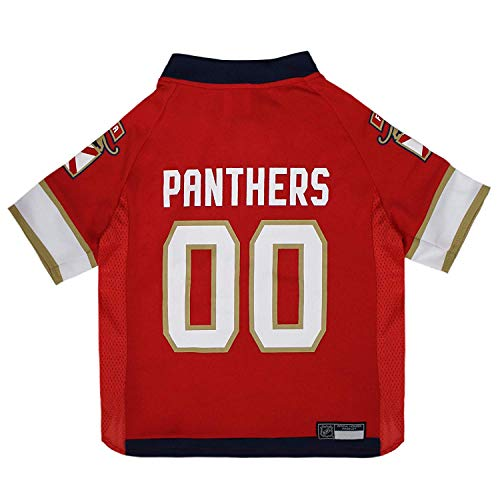 NHL Florida Panthers Jersey for Dogs & Cats, Small. - Let Your Pet be a Real NHL Fan!