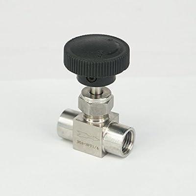 Sorekarain 1/4 NPT Female Needle Valve 304 Stainless Steel Water Gas Oil Flow Control by SOKA