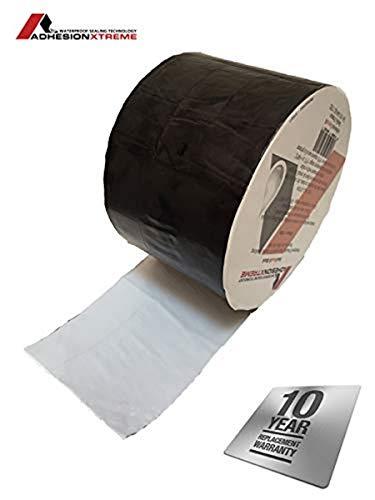 AX©*PREMIUM*10m*150mm Schwarzes Reparaturband Klebeband Dichtung Abdichtband für Teichfolien, EPDM, PVC, Bitumen, Flicken wasserdicht, selbstklebend (Schwarz)
